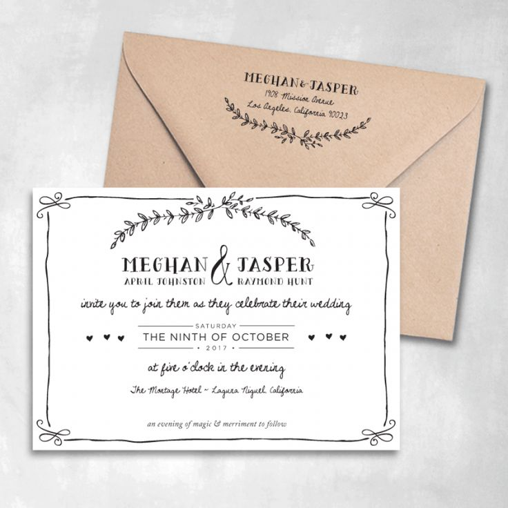Eternal Wedding Invitations | Smitten On Paper