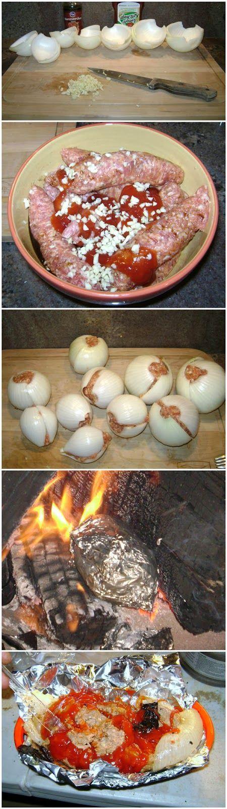 Onion Bombs (Camping Food).