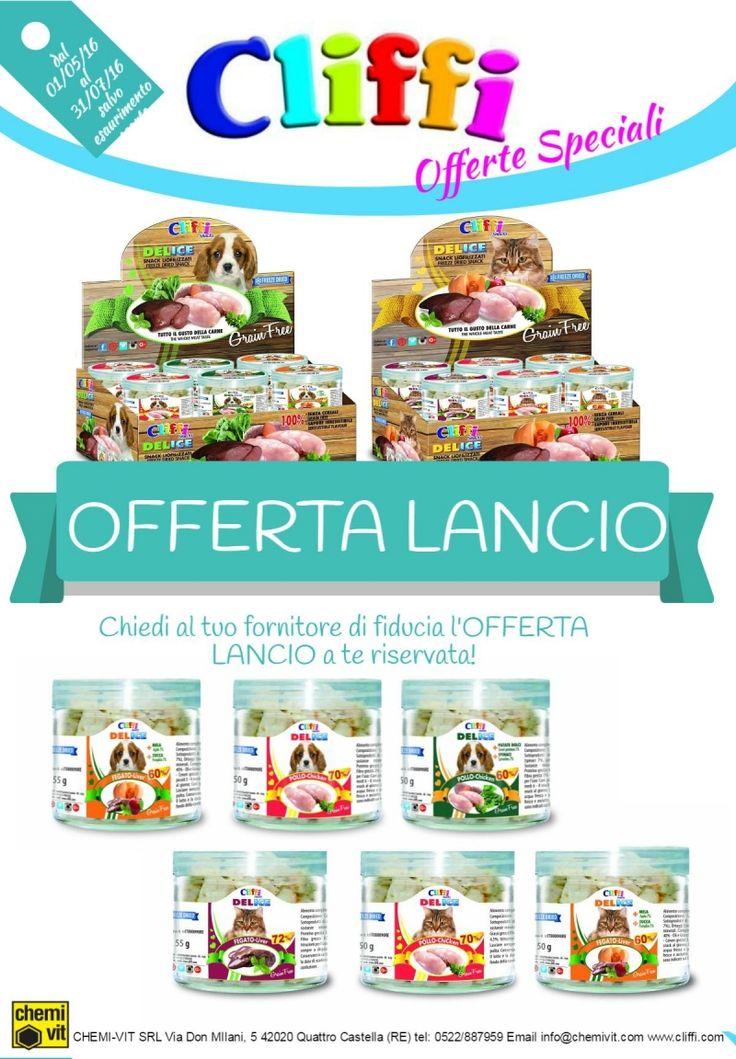 Snack liolifilizzati per cani e gatti DELICE #CLIFFI - #offerta lancio. Freeze dried snack for cats and dogs launching offer