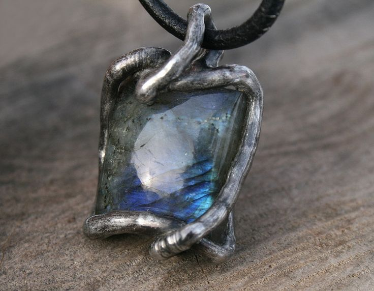 men necklace, labradorite necklace, raw necklace, valentines gift, men pendant, old tin silver, rustic post apocaliptic, ancient necklace by Blacksmithworkshop on Etsy