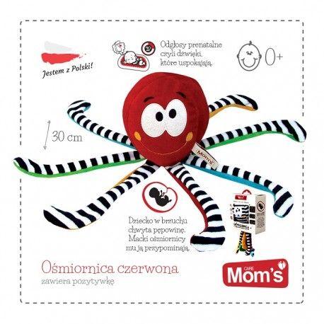 """30 cm Pozytywka Hencz 965 - Czerwona Ośmiornica z Odgłosami Prenatalnymi  dla Niemowląt.  Zabawka emituje bicie serca matki i szum wód płodowych - są to podstawowe dźwięki jakie maluszek słyszy będąc w brzuszku mamy.  Kochane """"dźwięki mamy"""":)  http://www.niczchin.pl/zabawki-dla-niemowlat/3406-hencz-965-pozytywka-osmiornica-z-odglosami-prenatalnymi-czerwona.html  #pozytywkadlaniemowląt #zabawkihencz #ośmiornica #zabawki #niczchin #kraków"""