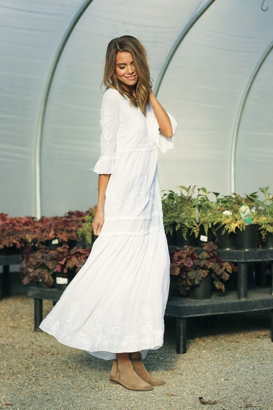 1000  images about The Modest White Dress on Pinterest  Spotlight ...