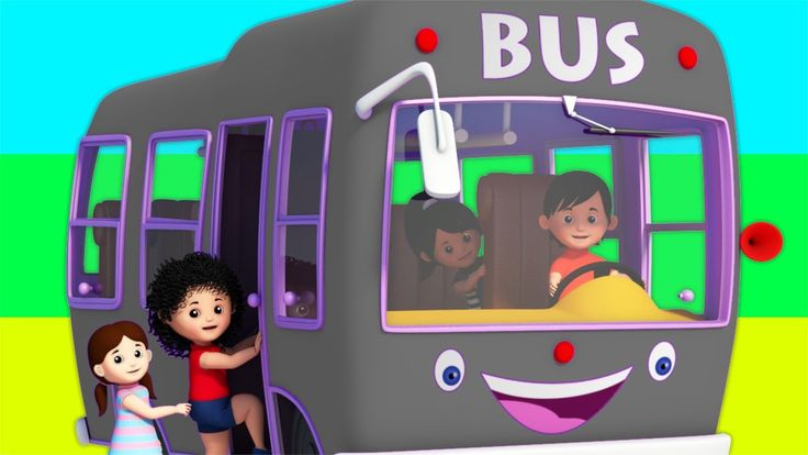 Grey Wheels On The Bus   Rhymes for Children   Kids Pretend Play