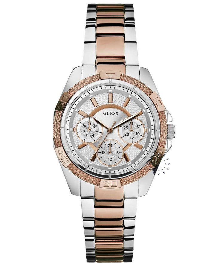 GUESS Crystal Ladies Multifunction Two Tone Stainless Steel Η τιμή μας: 194€ http://www.oroloi.gr/product_info.php?products_id=35135