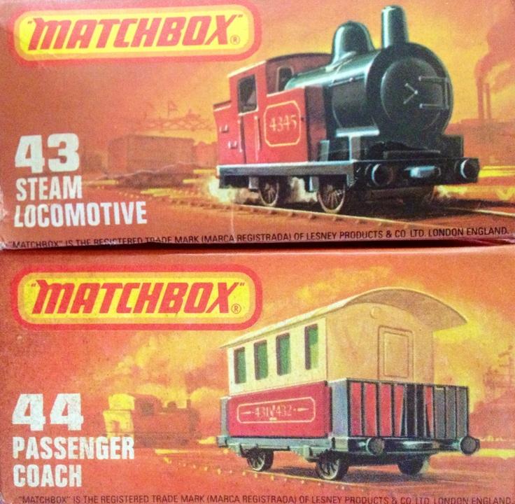 1978 Matchbox steam locomotive and passenger coach