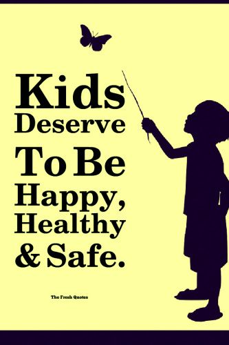 June International Day of Innocent Children Victims of Aggression - Kids Deserve To Be Happy, Healthy,And Safe