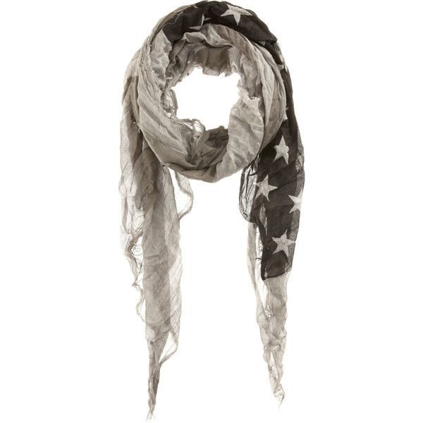 John Varvatos American Flag Scarf ($228) ❤ liked on Polyvore featuring men's fashion, men's accessories, men's scarves and mens long scarves