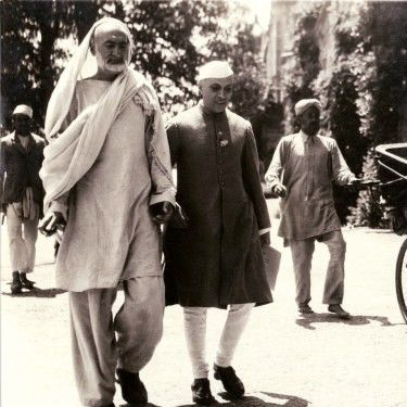 Khan Abdul Ghaffar Khan and Jawaharlal Nehru