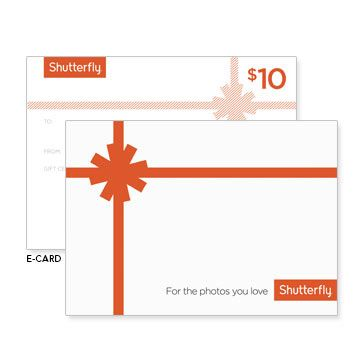 Share a Shutterfly Gift Certificate with anyone you know who enjoys digital photography.