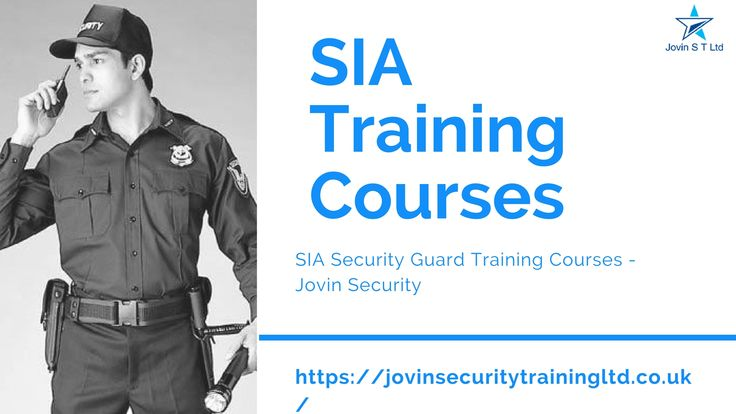 Choose your SIA course for Door Supervisor, Security Guard, CCTV Operator, First Aid at Work and more.Start your career as a Security Guard. Book now with getting Licensed for skill and qualifications you need!