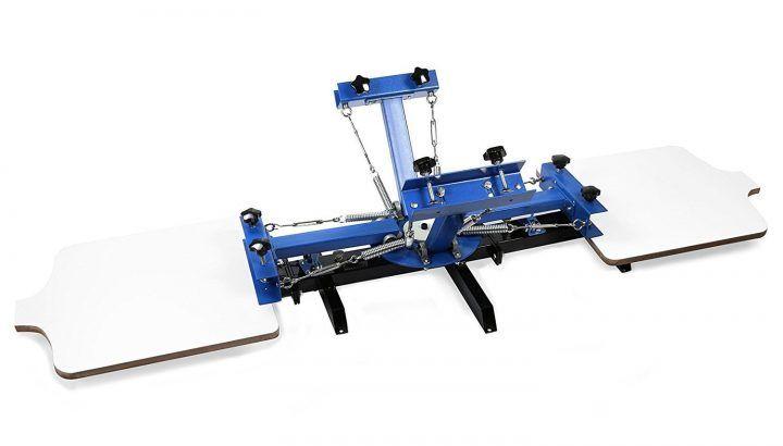 Superland Silk Screen Printing Machine Adjustable Devices Press Printer DIY Shirt Equipment (4 colors 2 stations)