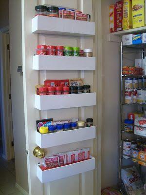 RobbyGurl's Creations: DIY Pantry Door Spice Racks  http://robbygurlscreations.blogspot.com/2012/01/diy-pantry-door-spice-racks.html