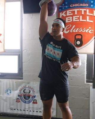 Had a great time at the 5th annual Chicago Kettlebell Classic. We partnered with Rockfit to bring the event to the gym and it was a huge success. Happy to see all our friends and new faces step up onto the platforms and give their best. Great energy and support.  What's amazing is watching the progress everyone has made. More reps and better technique. Look forward to seeing everyone again next year. I called an audible and went with a 20kg snatch set this afternoon.  Put up 191 (weighed in…