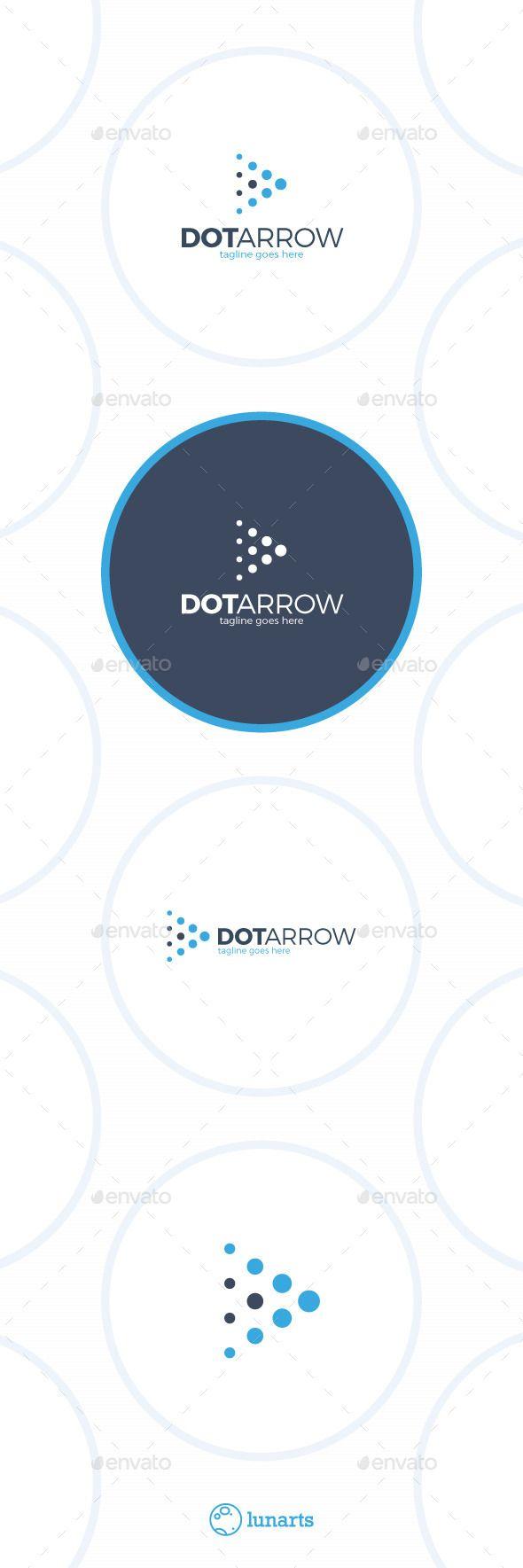 Arrow Dot  - Play Logo Design Template Vector #logotype Download it here: http://graphicriver.net/item/arrow-dot-logo-play/12899700?s_rank=514?ref=nexion