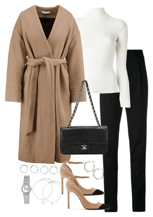 """""""Untitled #5261"""" by theeuropeancloset on Polyvore featuring Yves Saint Laurent, Philosophy di Lorenzo Serafini, IRO, Chanel, Boohoo, Casio and Dinny Hall"""