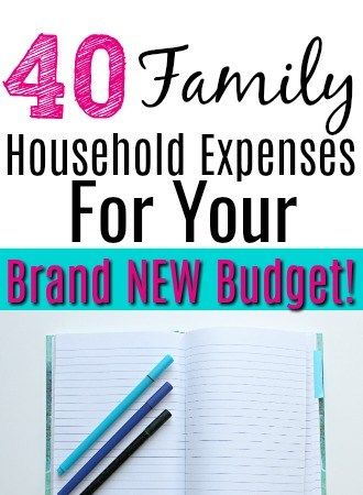 36 Family Household Expenses For Your Brand New Budget Financial
