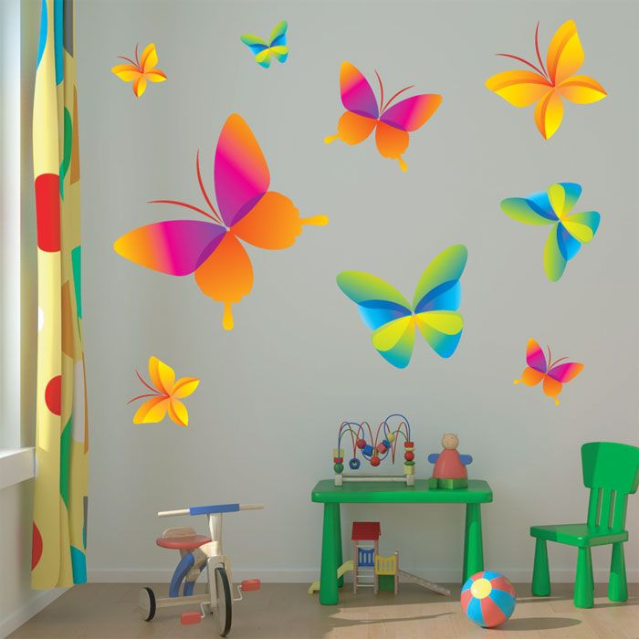 Best Butterfly Wall Stickers For Leah Images On Pinterest - Wall decals butterfliespatterned butterfly wall decal vinyl butterfly wall decor