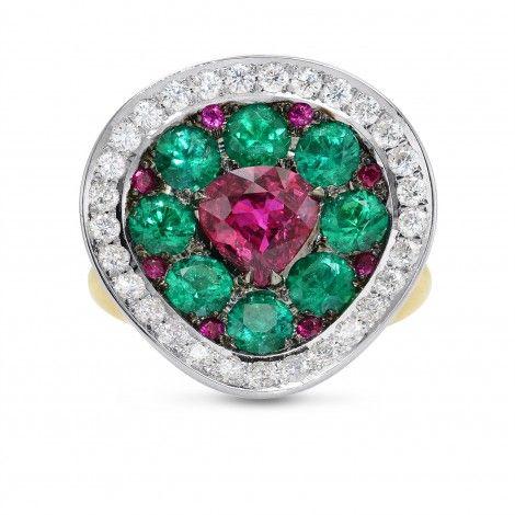 SHOP Extraordinary Ruby Emerald & Diamond Ring, SKU 294400 (4.16Ct TW)