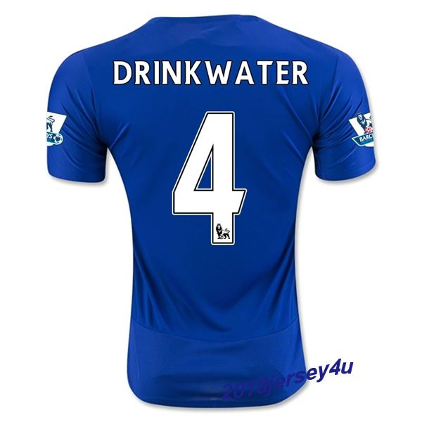 a5eb7726b61 ... 2016 2017 leicester city 4 drinkwater home blue soccer jersey danny  drinkwater 4 leicester city home