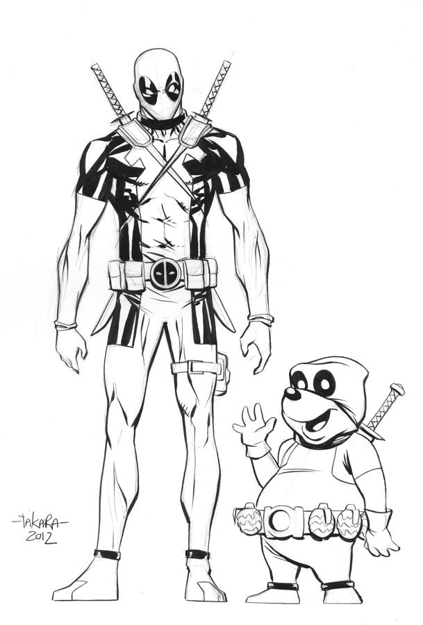 pre-NYCC sketch - Deadpool, Dead Pooh by *marciotakara on deviantART