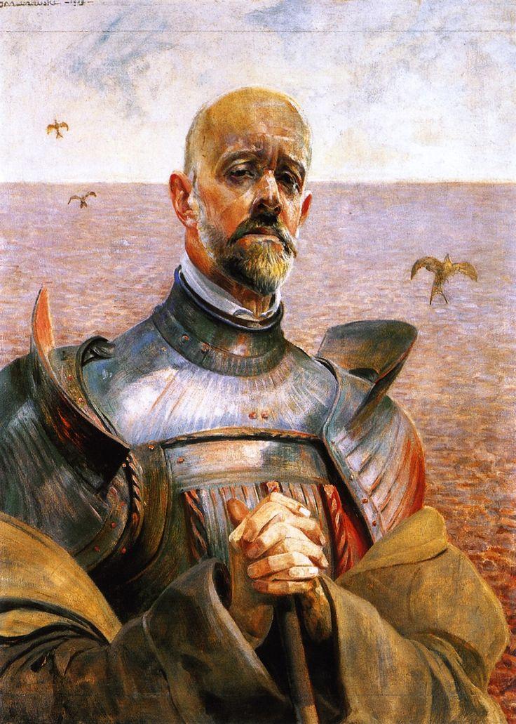 jacek malczewski  self-portrait In armory - Poland 19th century