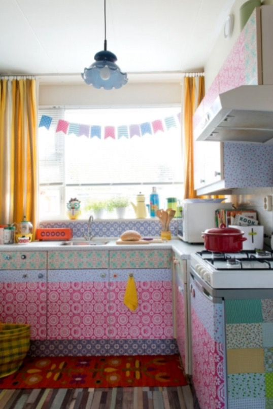 """This quirky kitchen is from our feature """"Spicy Ingredients"""""""