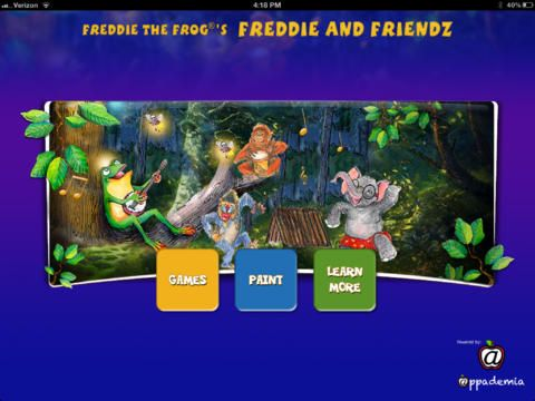 A music education app correlating with the best-selling Freddie the Frog® books. My favorite is the rhythm stick game.