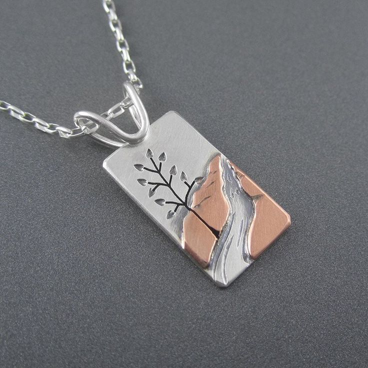 Mini Hike to Munising Falls Mixed Metal Pendant by Beth Millner Jewelry