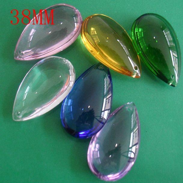 Бесплатная доставка, Оптовая цена, 30 шт./лот 38 мм кристалл слеза капля кулон для люстра/занавес частей, хрустальная люстра частей