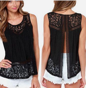 Summer Fashion Women Lace Vest – Models Industry