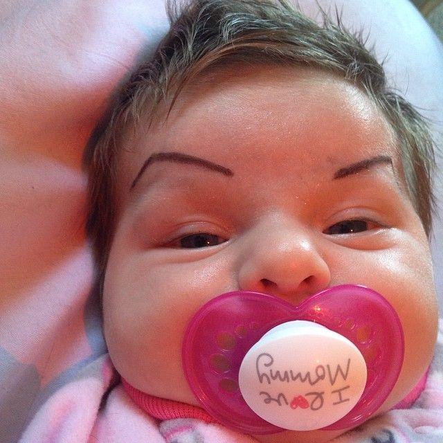 #funny #baby #eyebrows