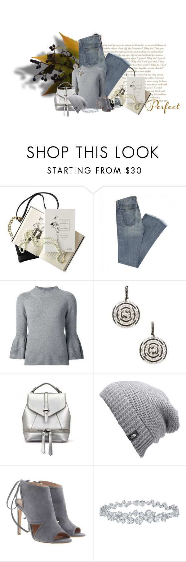 """The Perfection of Gray"" by jakenpink ❤ liked on Polyvore featuring Chanel, Carolina Herrera, Arthur Marder Fine Jewelry, The North Face, BOSS Hugo Boss, Harry Winston and Bling Jewelry"