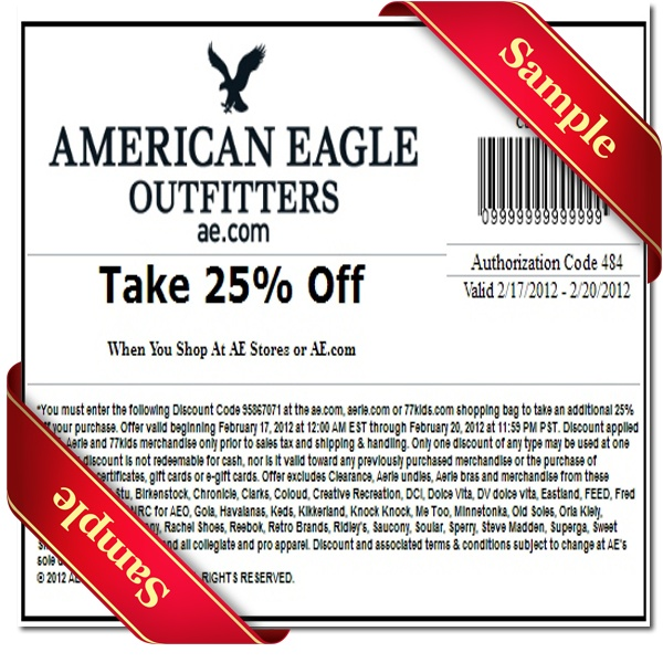 picture about American Eagle Coupons Printable called Coupon american eagle printable : Ramadhan buffet bargains in just