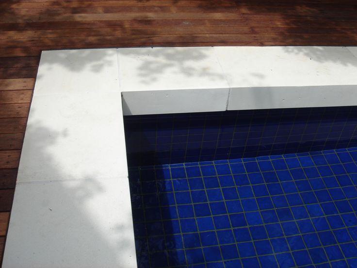 Limnestone drop face coping and designer plunge pool. www.stone101.com.au