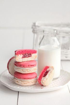 Vanilla + Red Currant Macarons