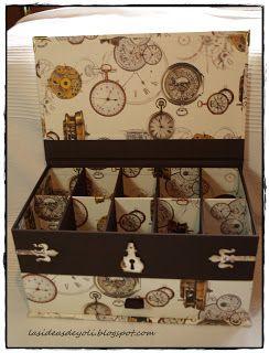 Cartonaje Caja colección relojes