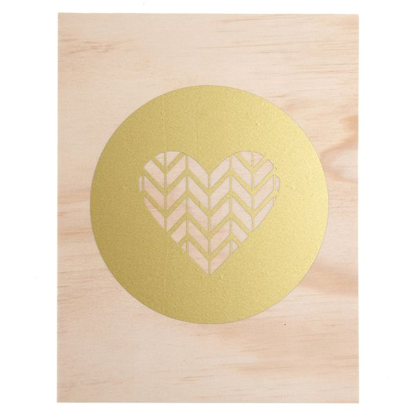 Chevron Heart Ply Print - The Market