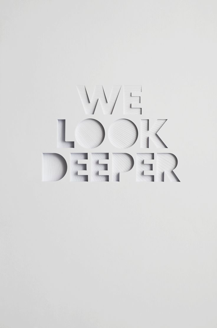 Mysterious poster design with 3d text - We Look Deeper Bianca Chang The Facetext Designgraphic Design3d