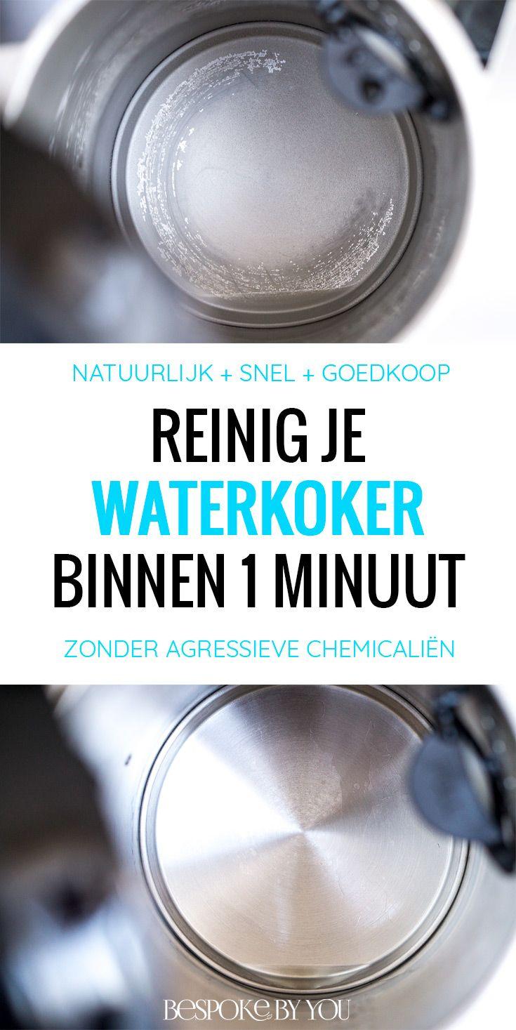 Je kunt je waterkoker reinigen op een snelle, goedkope en natuurlijke manier met behulp van citroenzuur. Geen agressieve chemicaliën dus!