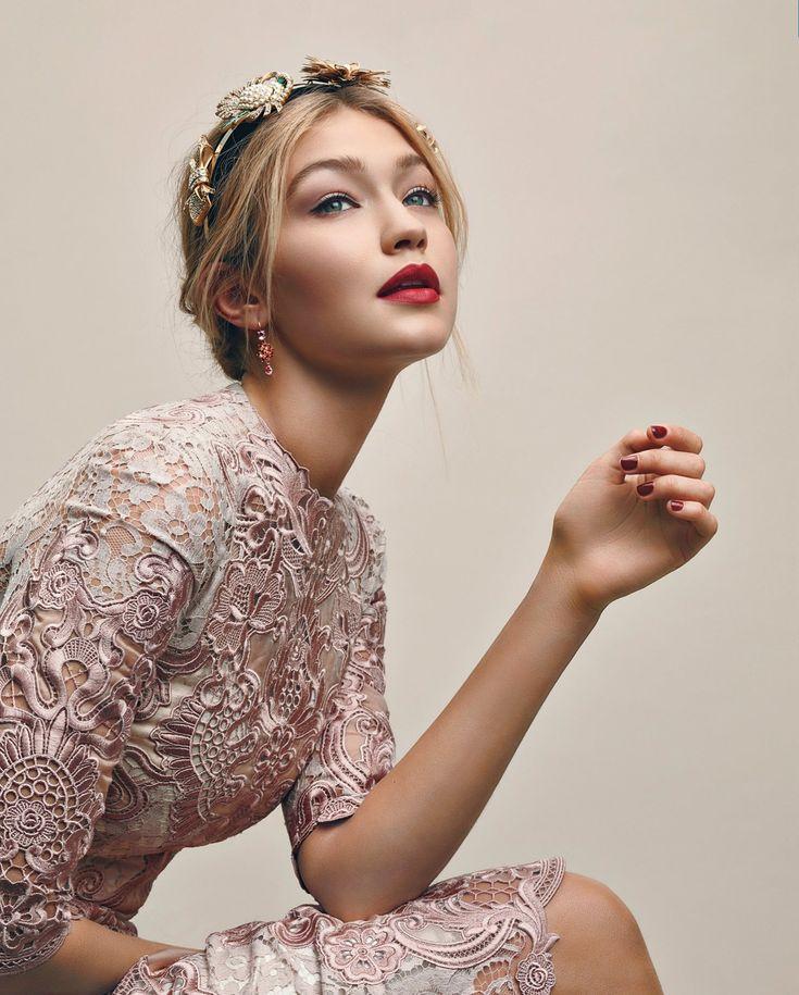 Gigi Hadid photographed by Greg Harris, Vogue, December 2015.
