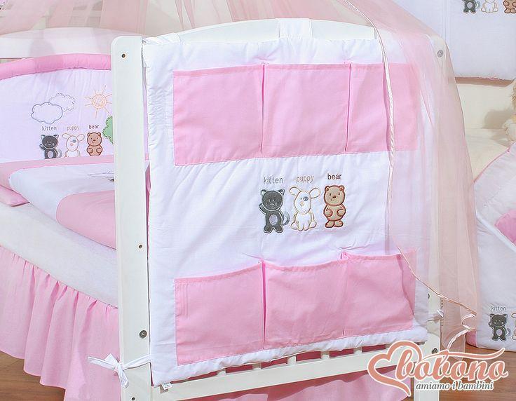 Pink cot tidy / Bobono