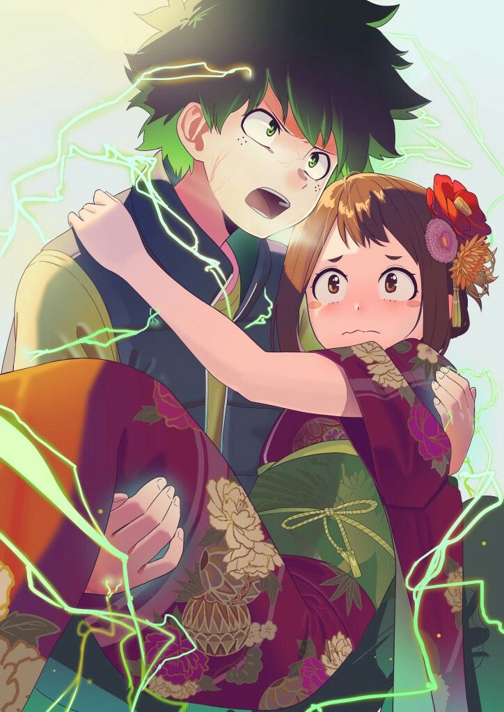 Midoriya Uraraka My Hero Hero Wallpaper Deku X Uraraka