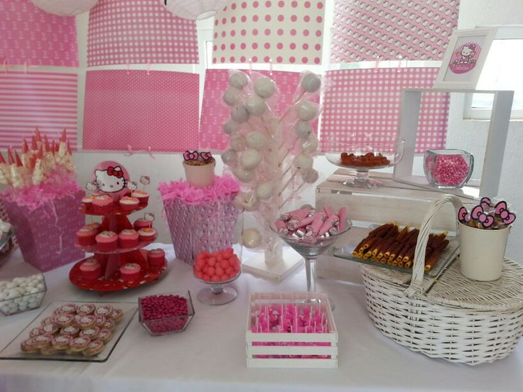Candy station candy bar mesa de postres mesa de dulces for Decoracion mesas dulces
