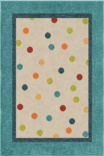 Orian Rugs Kids Court Polka Rugs | Rugs Direct