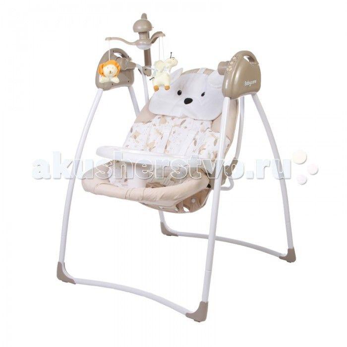 """Электронные качели Baby Care Butterfly с адаптером  Baby Care """"Butterfly"""" - стильные электрокачели для новорожденных. Очень мобильная модель предназначена специально для родителей, которые не сидят на месте.   Имеется 3 положения спинки. Качели оснащены вибро-музыкальным блоком с таймером. Блок проигрывает 12 мелодий c регулировкой громкости. Имеется 5 скоростей укачивания. Электрокачели могут работать как от сети, так и на батарейках. Кроме того, в комплекте съемная дуга с игрушками…"""