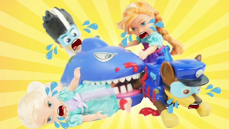 SHARK ATTACK! Bites toddler ELSA and ANNA toddlers play Dentist Game with PJ Masks Romeo and Paw Patrol! Our Disney Jr and Nick Jr character toys play for surprise eggs blind bags and blind boxes from Secret Life of Pets Disney Frozen Mashems Fashems Finding Nemo and Gift ems.  Subscribe here to never miss a video: https://www.youtube.com/channel/UCsRW8ikkc-uISUXtNKBfFcw?sub_confirmation=1  - Watch my last video: https://www.youtube.com/watch?v=mTvAYFOU_ho  More of my videos in playlists…