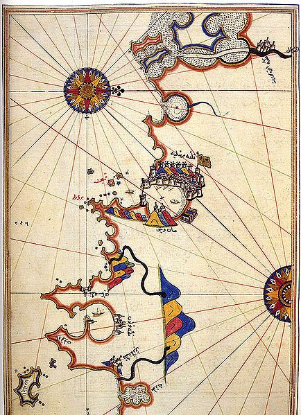 The Maps of Piri Reis Marseille | The Public Domain Review