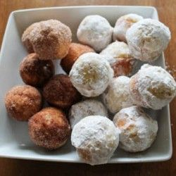 Baked Donut Holes: when entertaining. Have chocolate, caramel, frosting dips.