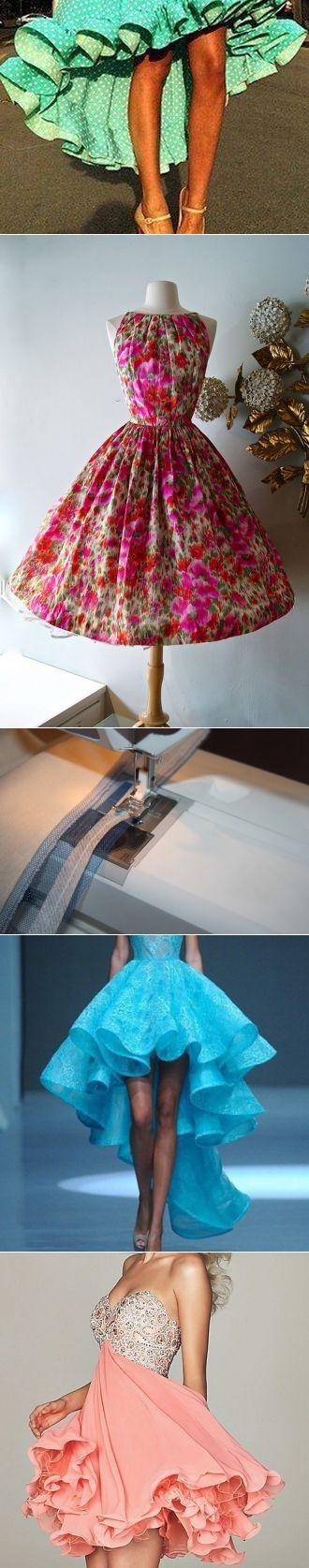 Como hacer pomposo la parte inferior de la falda con la ayuda regilina \/ las Clases maestras \/ Burdastyle
