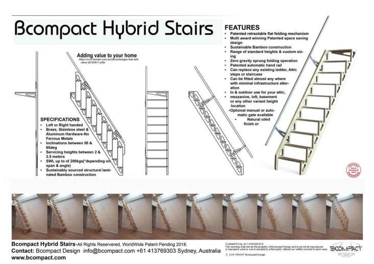 Bcompact Hybrid Stairs And Ladders Stairs Ladder Stair Ladder